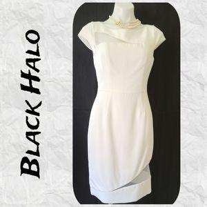 📁 Black Halo White Dress Mesh Insets Size 8